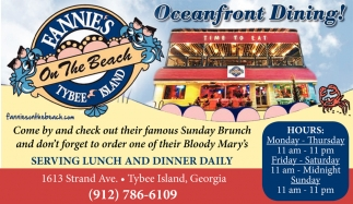 Oceanfront Dining!