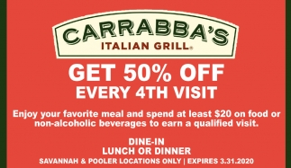 Gat 50% off every 4th visit