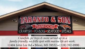 Crawfish Po Boys Seafood Steaks Taranto Son Seafood