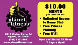 10 00 Month Planet Fitness Augusta Augusta Ga