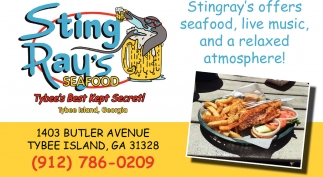 Stingray's offers seafood, live music, and a relaxed atmosphere!
