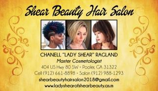 Chanell Lady Shear Ragland, Master Cosmetologist